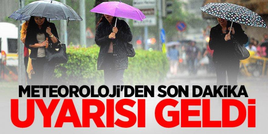 Meteoroloji Türkiye Geneli Tüm İlleri Son Dakika Olarak Uyardı